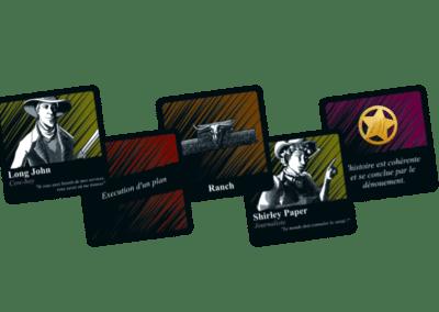 Jeu de société - Far West - 5 cartes