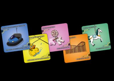 Jeu de société - Fete Foraine - 5 cartes